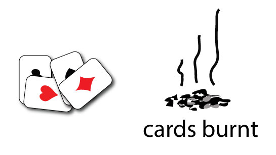 entropy change in burning cards