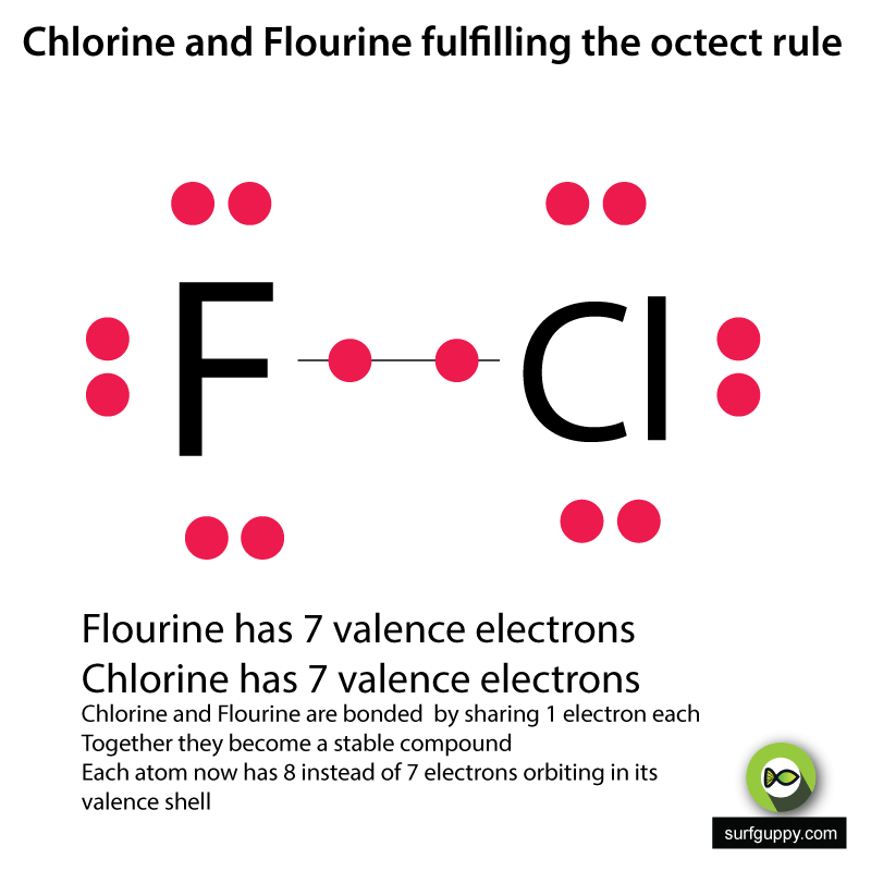 OctectRule-example-flourine-and-cholrine-bonding