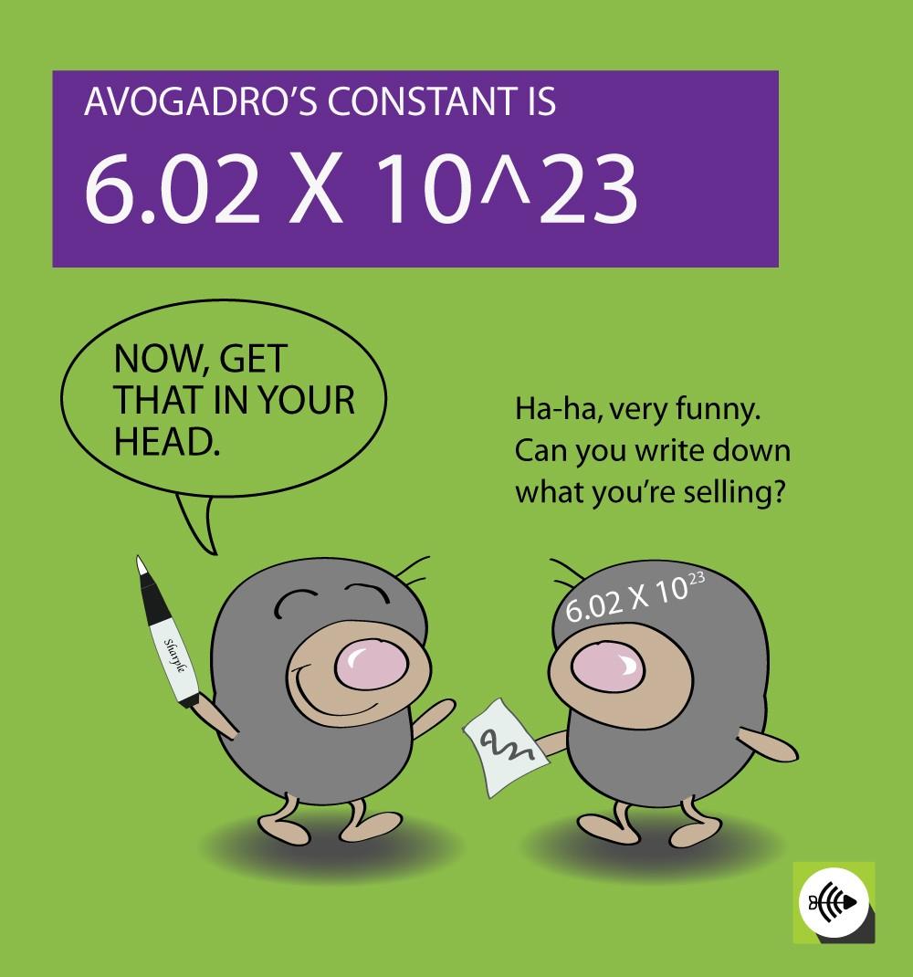 avogadros constant relationship to the mole