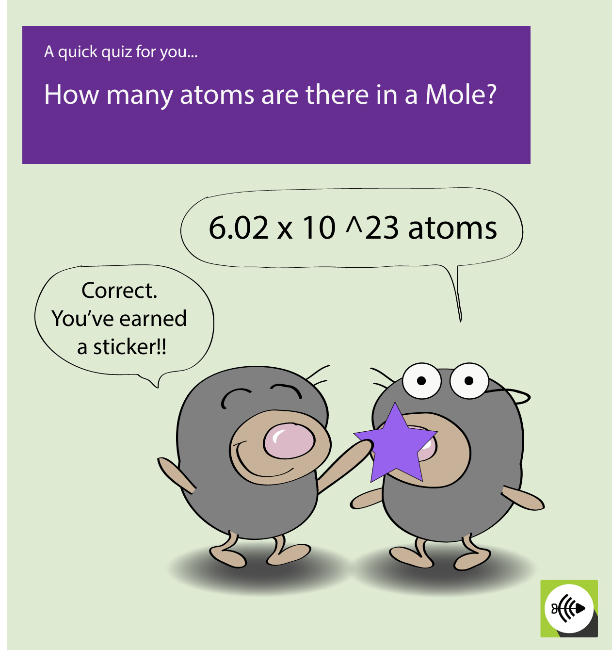 How many atoms in 1 mole