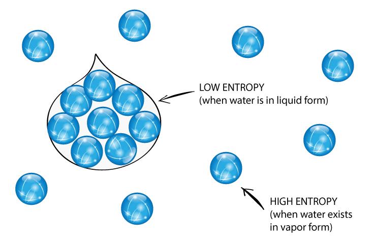 High and low entropy cartoon