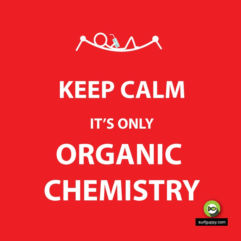 keep calm it's only organic chemistry