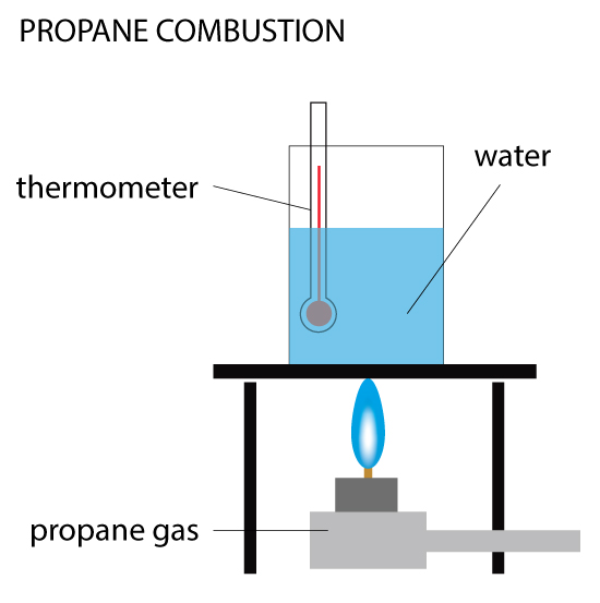 Propane combustion