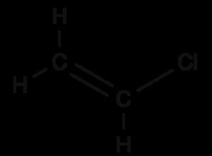 Vinyl chloride (structural formula)