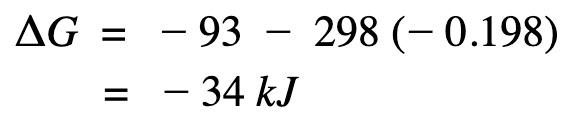 calculate delta G