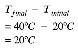 delta T = T(final) - T(initial)