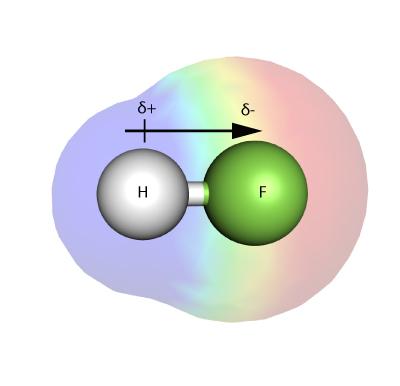A polar molecule