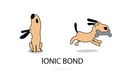 Ionic bond - electrons are transferred