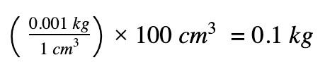 density x volume