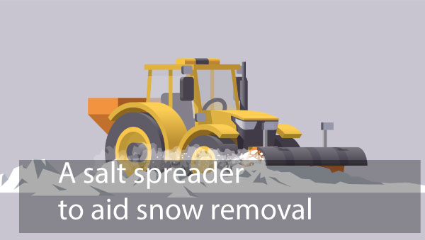 A salt spreader