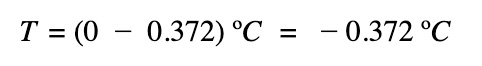 new temperature of freezing point