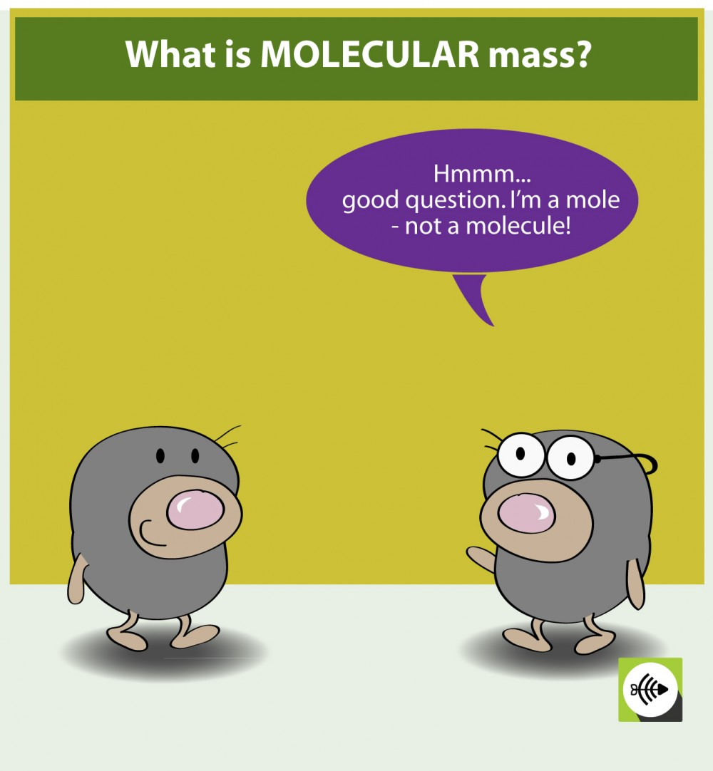 What is molecular mass cartoon